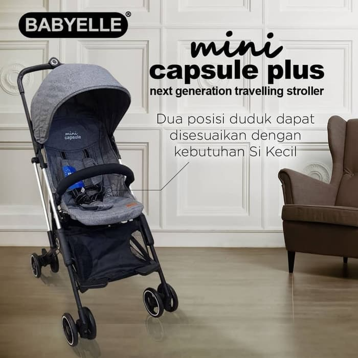 [pgp_title] Baby Elle Mini Capsul Baby Varent Sewa Stroller bayi
