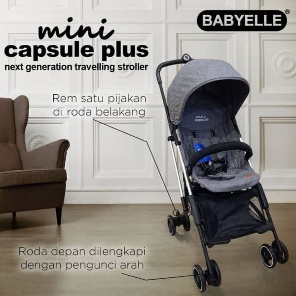 [pgp_title] Baby Elle Mini Capsul Baby Varent Sewa Stroller jogja