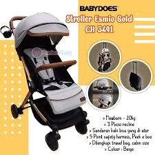 Sewa rental Stroller Bayi Jogja Esmio Gold Stroller BabyDoes Babyvarent 4