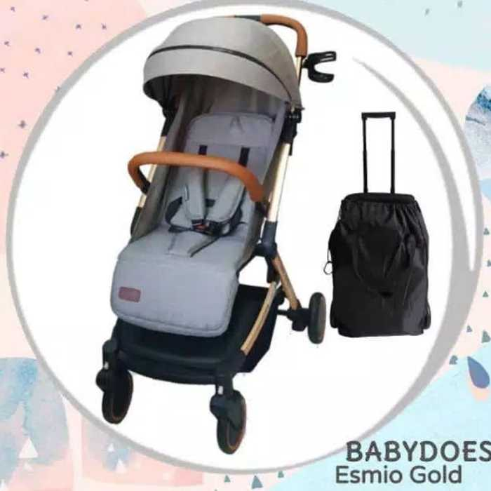 Sewa rental Stroller Bayi Jogja Esmio Gold Stroller BabyDoes Babyvarent 7 12